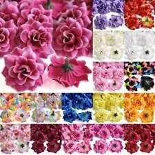 50pcs Silk Roses Artificial Bridal Clips Wedding Decor Fake Flower Head Supplies