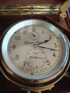 RARE Thomas Mercer Marine Chronometer Ship Clock Working _178