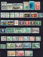 CANADA...COLLECTION  41 STAMPS...MIXED LOT , TO DOLLAR VALUE