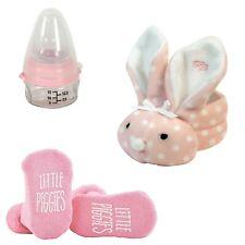 Stephan Baby Gift Bundle Pink Dot Boo-Bunnie, Mini Medicine Bottle & Silly Socks