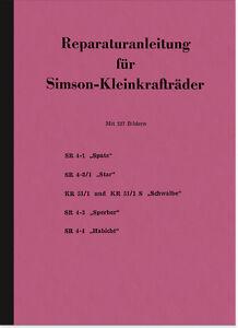 Simson Schwalbe Spatz KR 51 SR 4 S 50 Reparaturanleitung Werkstatthandbuch KR51