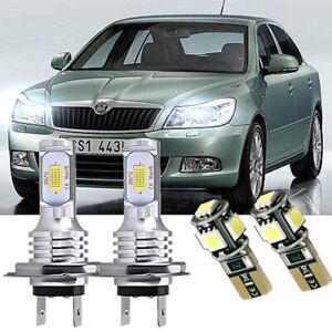 SKODA OCTAVIA 2004-2012 2x H1 CONVERSION Kit Car LED Headlight FOG Bulbs WHITE