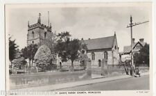 Worcester, St. Johns Parish Church, Tuck WST 85 RP Postcard, B493