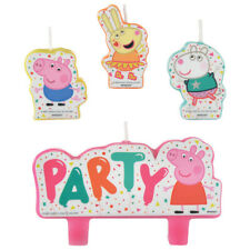 Peppa Pig Confetti Party Birthday Candle Set 4 Piece Party Favor Supplies