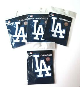 FOUR (4) LOS ANGELES DODGERS, FLEXIBLE  MAGNETS FROM WINCRAFT