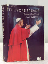THE POPE SPEAKS-By Paul VI with Jean Guitton, Catholic, 1968