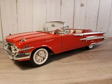 Welly 1960 Chevy Impala Convertible 1:18 Scale Diecast Model Car Red