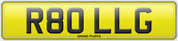 R80 LLG NUMBER PLATE ROLL G REGISTRATION ASSIGNED 4U ROLLER REG NO FEES ROLLS RR