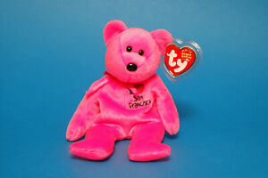 TY Beanie Baby 'SAN FRANCISCO' Bear Retired,plus Protected Tags MWMT /PR-06