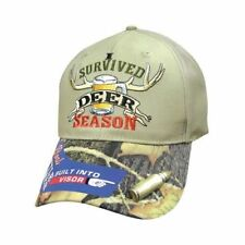 """""""I Survived Deer Season"""" Hunting Ball Cap Hat with Bottle Opener on Bill"""