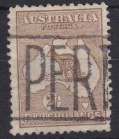 K759) Australia 1913 2/- Brown 1st wmk. Kangaroo BW 35A, nicely centred, lightly