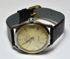 VTG 1950s Waltham Swiss Made 17 Jewels Manual Wind Man watch runs keeps time