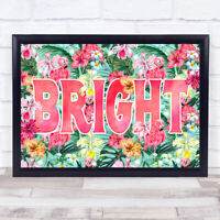 Flamingo Gothic Typography Style Bright Home Wall Art Print