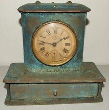 Antique 19th Century F. KROEBER Co. Victorian Vanity Jewelry Box Alarm Clock