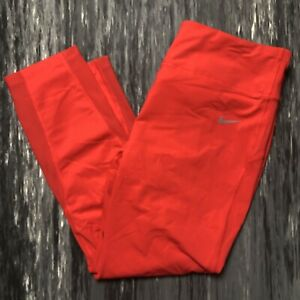 NIKE Epic Lux Running 3/4 Length Crops Red XL Extra Large