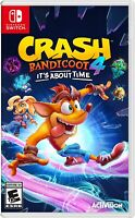 Crash bandicoot 4 It's About Time Nintendo Switch Usa physical version New