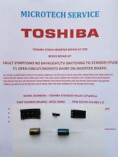 TOSHIBA 37XV505D Hitachi L37vp01uc 6632L-0490A INVERTER REPAIR KIT READ ADVERT