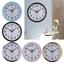 "10"" Modern Silent Quartz Wall Clock Round Classic Kitchen Office Room Quartz"