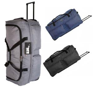 XL 30 Inch Wheeled Travel Luggage Trolley Holdall Suitcase Duffel Bag Case 96 L