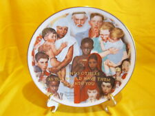 Norman Rockwell golden rule plate - Gorham Fine China Excellent in Original Box