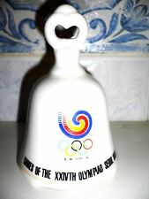 1988 Olympic Games Seoul with Official Logo CERAMIC BELL No6 Very Rare/Very Nice