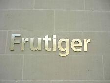 Frutiger ACCIAIO INOX SATINATO 15cm House / PORTA LETTERE-qualsiasi combinazione