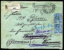 1904 - Raccomandata per la Svizzera con cent.10 + cent.25 Floreale
