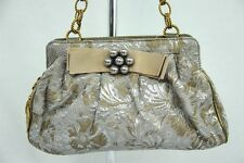 DOLCE & GABBANA Metallic Baroque Framed Shoulder Bag Purse Chain Strap Handbag