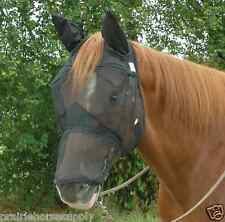 Cashel Quiet Ride Fly Mask Yearling Pony with Covers Ears and Nose Trail Riding