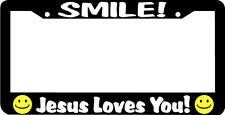 SMILE JESUS LOVES YOU CHRISTIAN License Plate Frame