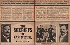 Sheriff's Of San Miguel - The Romero Brothers+Genealogy