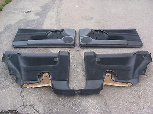 ++ VW Golf 3 GTI Türverkleidungen 3-türer Stoff schwarz 1H3867012 -011 -044 -043