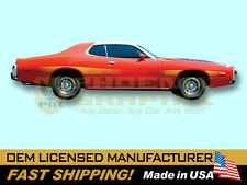 1973 1974 Dodge Charger Rallye Reflective Decals & Stripes Kit