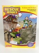 2002 Fisher-Price Rescue Heroes To Serve and to Save Coloring & Activity Book