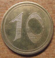 Germany Notgeld (Token) Bielefeld 10 pfennig 1920 Rare!