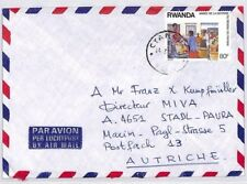 CA231 1980s Rwanda *CYANGUGU* CDS Airmail Cover MISSIONARY VEHICLES {samwells}