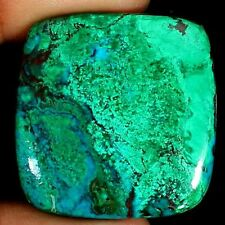 NATURAL CHRYSOCOLLA  LOOSE GEMSTONE (74ct / 36 x 35 mm) LARGE CUSHION CABOCHON