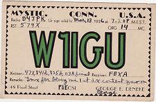 QSL Card MYSTIC CONN. 1936 USA Funk Karte Radio W1IGU    ( 80400