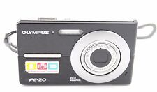 Olympus FE-20 (C-25 / X-15) 8MP 3x ZOOM DIGITAL CAMERA BLACK W. BATTERY