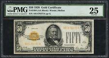 Fr2404 $50 1928 Gold Note Pmg 25 - Vf - Wlm4768