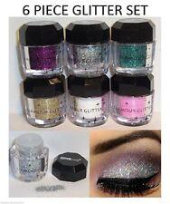 6 PCS Beauty Treats  Loose Glitter Powder For Eyes,Face,Nail,and Body