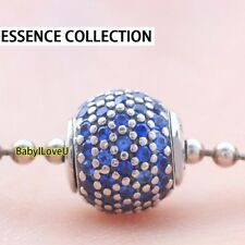 S925 Sterling Silver Essence Collection PEACE Charm Blue Crystal Fit Bracelet