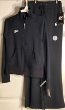 Was $53.98 NWT! GK Elite Warm Up Set Jacket/Pants Black Cotton Size Youth 12