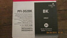 Genuine Canon PFI-302Bk Black Ink Cartridge Fits IPF8100 IPF8110 IPF9100 IFP9110