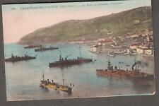 post card France Villefranche-Sur-Mer La Rade et l'Escadre Francaise ships