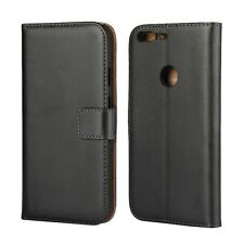 For Google Pixel XL 5'5 Black Genuine Leather Wallet Card Flip Case Cover Stand