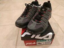 Fila WESTMOUNT Grey Black Red Hiking Sneakers Men 9.5 Shoes - Brand New in Box