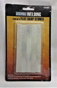 Chicago Electric Welding Flat Soap Stones Pack of 5