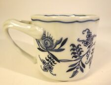 Vintage Blue Danube BLUE ONION Coffee Mug Tea Cup Unique Handle  Rectangle Mark
