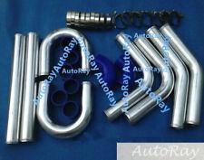 "2"" 51mm Aluminum Universal Intercooler Turbo Piping pipe Kit + Blue hose kits"
